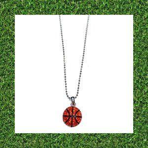 Basketball Rhinestone Charm Necklace